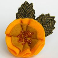 Front Page Brooch Yellow Rose