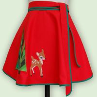 front page apron winter deer