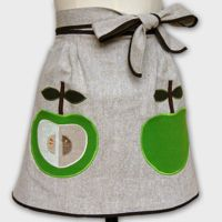 front page apron apple green