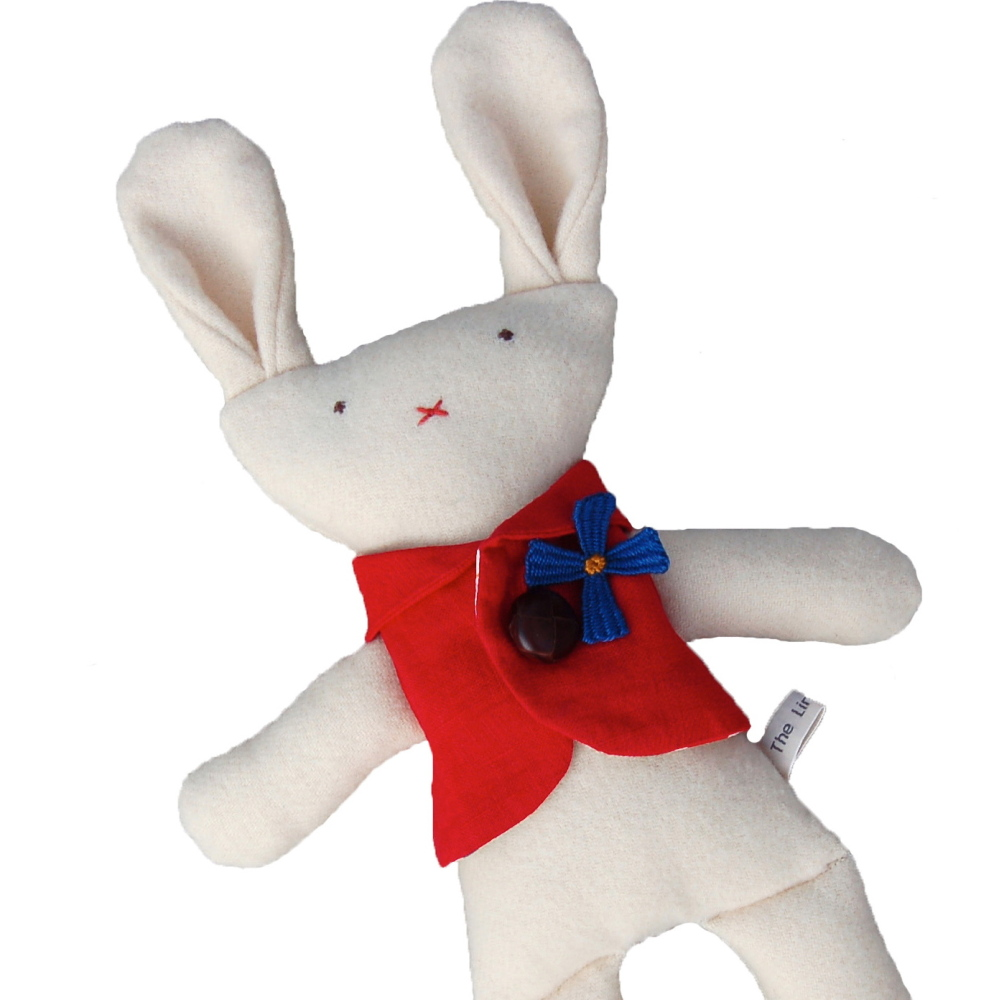 Cream Bunny in Red Waistcoat