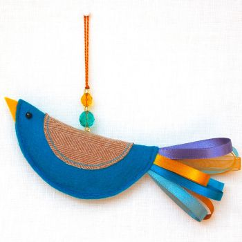 Turquoise & Gold Little Bird