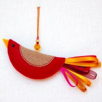 Cerise & Gold Little Bird