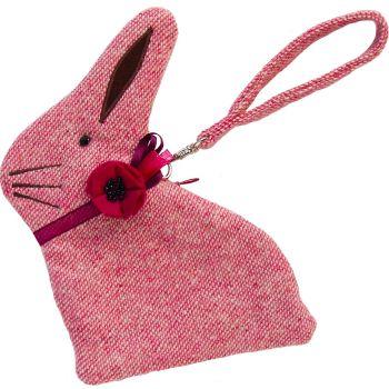 Pink Tweed Bunny Purse