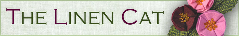 The Linen Cat, site logo.