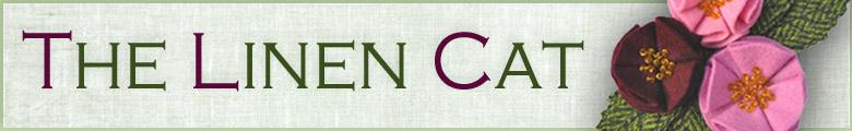 The Linen Cat, site logo.
