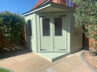 8x8 corner summerhouse
