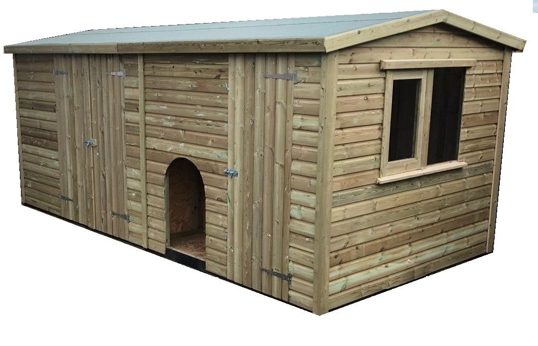 8x16 standard shed with pop hole, partiton, 3ft x4ft window