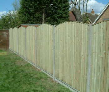 Closeboard Bow Top Fence Panel