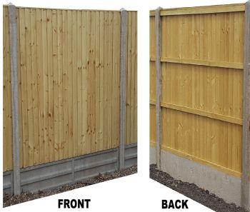 Closeboard Flat Top Fence Panels