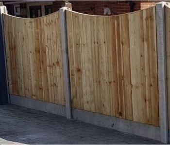 Closeboard Drop Top  Fence Panels
