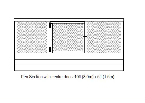 pen section door- drawing