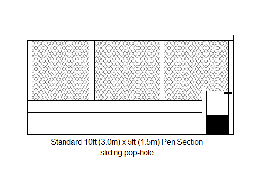 pen section open pop-sliding hole- drawing