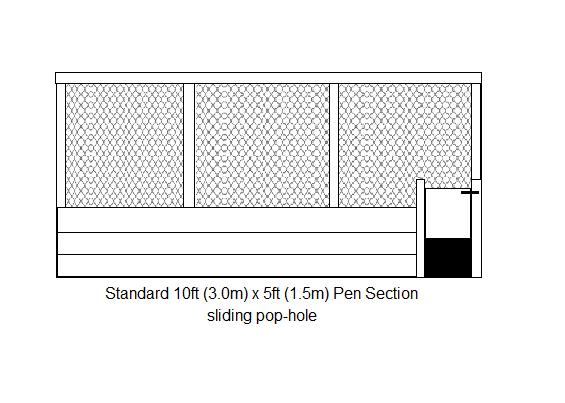 pen section open pop-sliding hole- drawing