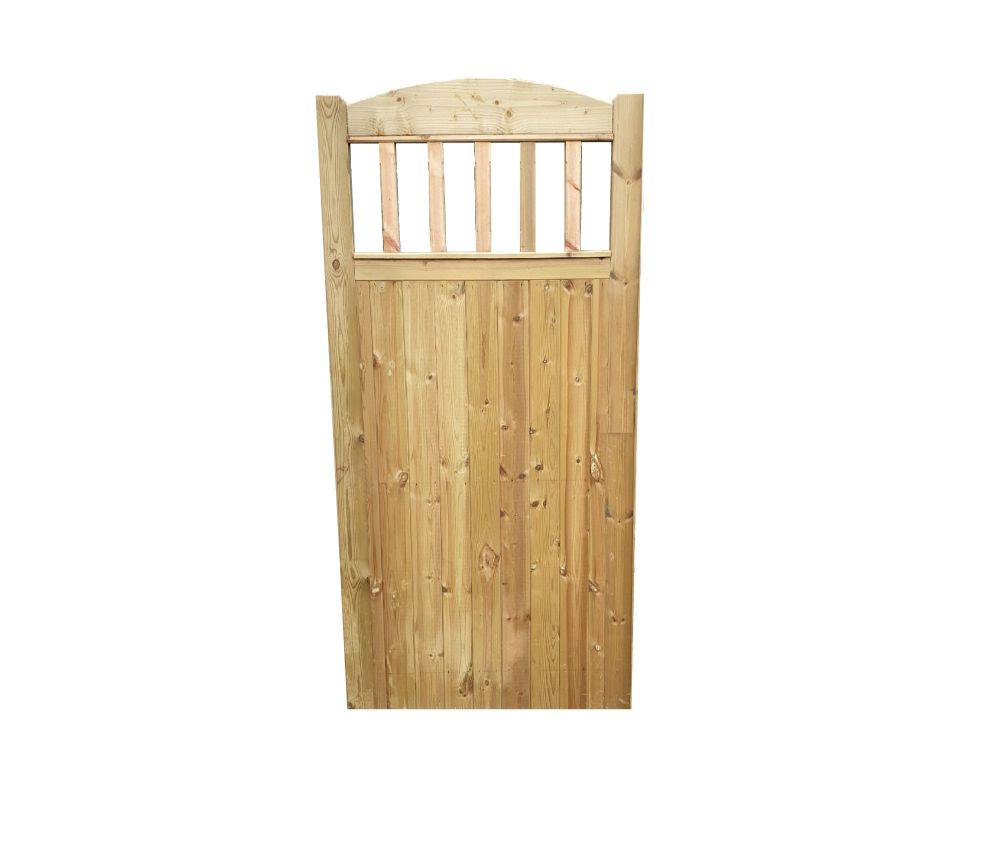 BOW TOP SPINDLE  GATE -6ft (1830mm) high x 900mm wide Single Pedestrian Gat