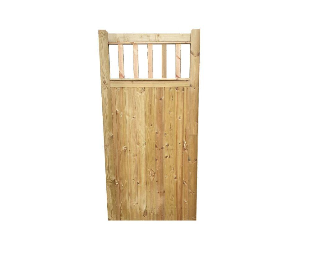 FLAT TOP SPINDLE  GATE -6ft (1830mm) high x 900mm wide Single Pedestrian Ga