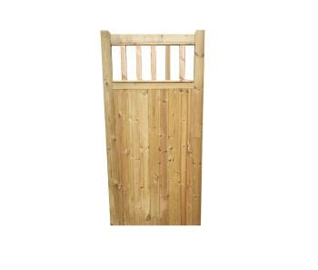 FLAT TOP SPINDLE  GATE -6ft (1830mm) high x 900mm wide Single Pedestrian Gates