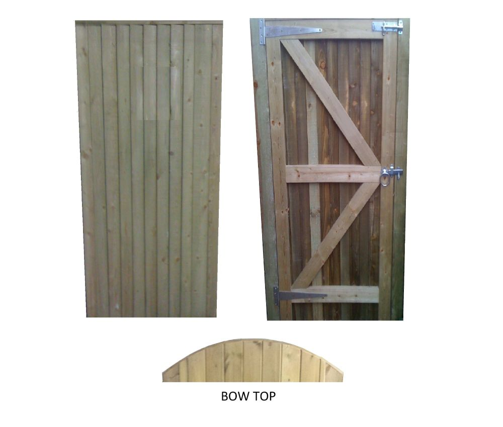 CLOESBOARDED GATE -6ft (1830mm) high x 900mm wide Single Pedestrian Gates