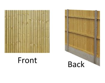 5ft high x 6ft wide CONTRACTOR RANGE Tanalised Closeboard Flat Top Fence Panels