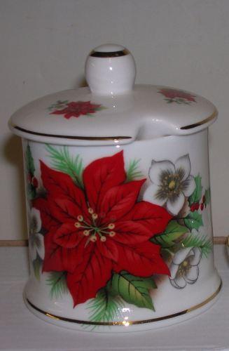 BC0389 Spice / preserve jar - poinsettia