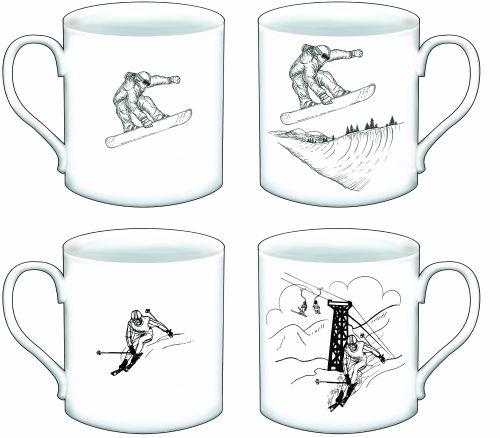FC003 beaker slalom skier & snow boarder