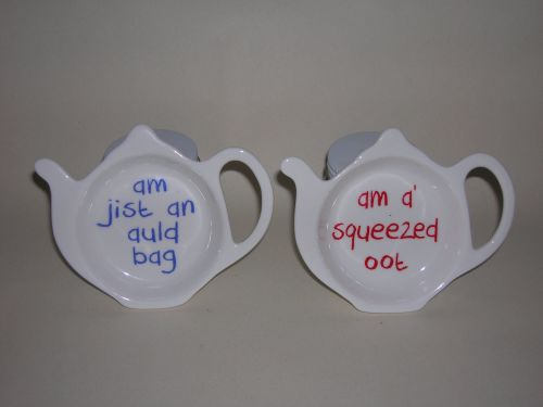 FC024 teabag rest Scottish sayings