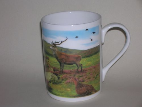 FC001/A Lyric beaker - Red deer & grouse