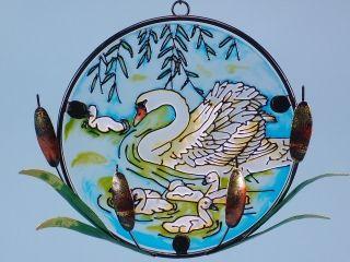 17355 Swan sun-catcher 15cm