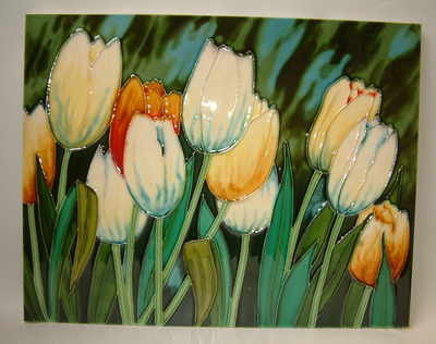 EL793/C Yellow & white tulips