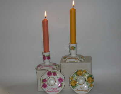 BC0273/D Candlestick pairs 50th & Happy Anniversary