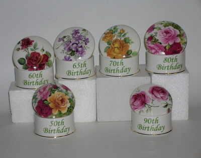 Round china box
