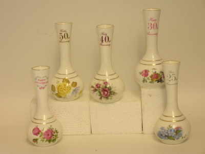 BC0145 Small bud vase Assorted anniversaries