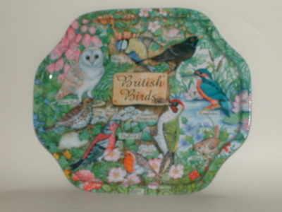 EL689 British birds Metal tray