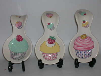 Spoon rests - cupcake - 6s