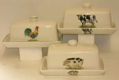 FC028 Butter dish  Naive Farm  Animals