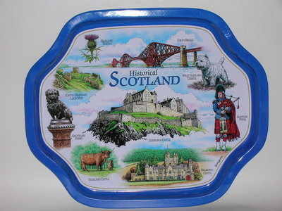 EL680 Scottish montage Small size Metal tray