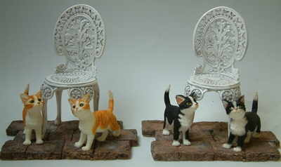 LP6923 Cats by garden chair