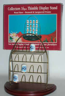 JES148 Arch thimble rack on wood base