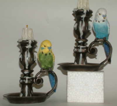 LP5812  Budgie with candlestick