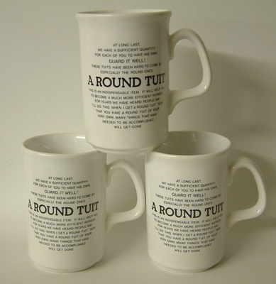 Lyric beaker - Round Tuit verse