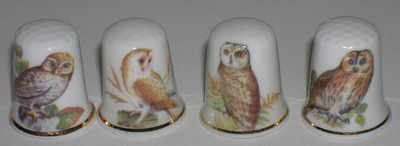 Owls - 4 assorted