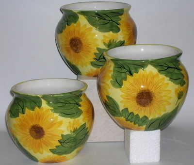 ZN691 Sunflower cachepot