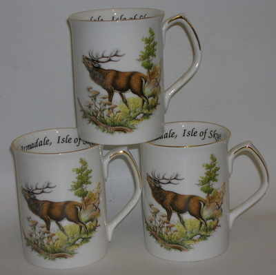 FC001/A Lyric beaker -  Red deer stag - barking