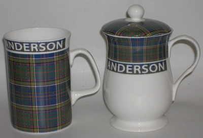 FC001/A Lyric beaker - Anderson tartan