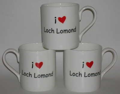 FC008 Pottery mug   I  (heart) .... + Townname