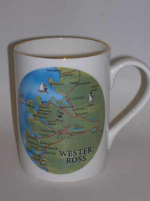 Lyric beaker - Wester Ross map