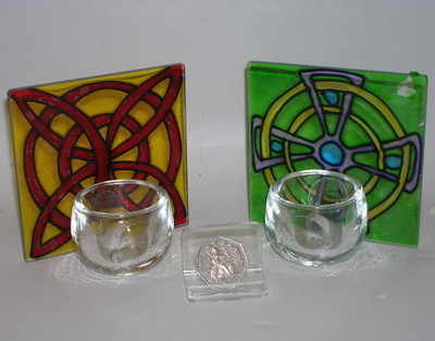 SY314 Celtic candleholder
