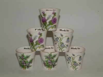 FC034 Whisky tot - thistle / heather / harebell