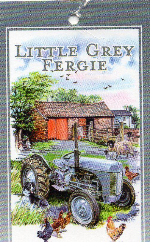 EL693 Little Grey Fergie teatowel