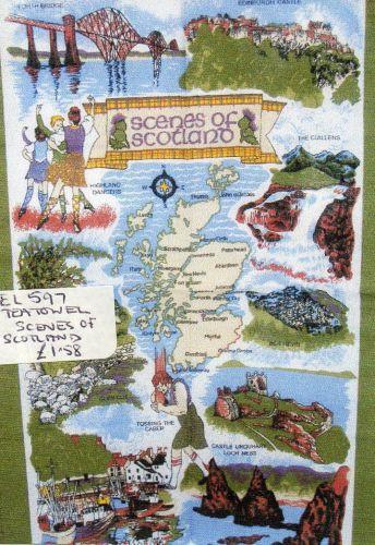 EL597 Scenes of Scotland teatowel