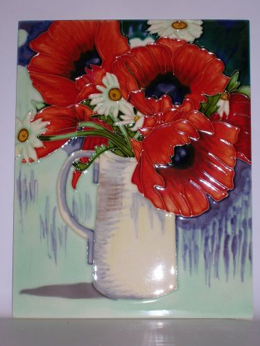 EL793/B ceramic picture - Poppies in jug